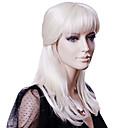 capless střední blond rovné vysoce kvalitní syntetické vlasy, paruky