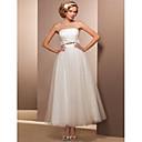A-Linie / Princess Drobná / Nadměrné velikosti Svatební šaty - Elegantní & moderní / Šaty na hostinu Retro / Malé bílé / Lesk a flitryPo