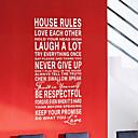 言葉&引用符壁ステッカーハウスルール洗える壁のステッカー