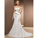 Lanting Bride® Mořská panna Drobná / Nadměrné velikosti Svatební šaty - Klasické & nadčasové / Okouzlující & dramatickéExtra dlouhá