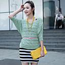nawain krása krajkové šaty s pletenou svetr (2 ks / set)
