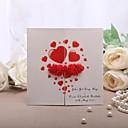 """Personalization Gate-Fold Vjenčanje Pozivnice Pozivnice-50 Piece / Set Formalno Style Pearl papira 5 1/3 """"5 × 1/3"""" (13,2 * 13.2cm)"""