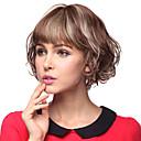 Sin tapa corto y rizado 100% pelucas del pelo humano