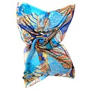 QTHY Tropical Chiffon Long Scarf(Blue)