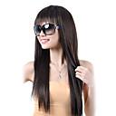 capless kvalitní syntetický dlouhé rovné hnědé vlasy, paruky