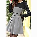 MLINAスウィートコントラストカラーツイードドレス