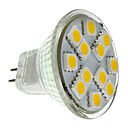 1.5W GU4(MR11) LED reflektori MR11 12 SMD 5050 160 lm Toplo bijelo DC 12 V