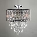 60W moderni bubanj strop svjetla sa 4 svjetla i kristalno perle