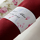 Personalized Paper Napkin Ring - Spring Flower (Set of 50)