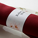 Personalized Paper Napkin Ring - Pretty Flowers (Set of 50)