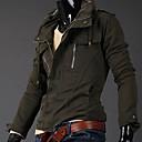 男性用 プレイン カジュアル ジャケット,長袖ブラック / グリーン