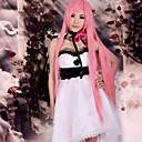 Inspirovaný Vocaloid Megurine Luka Video Hra Cosplay kostýmy Cosplay šaty / Šaty Patchwork Biały Bez rukávů K šatům / Vlasové ozdoby