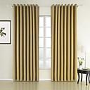 Dvije zavjese Neoclassical Jednobojni Bijela Bedroom Polyester Panel zavjese Zavjese