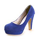 Ženske cipele - Salonke / štikle - Formalne prilike / Ured i karijera - Brušena koža - Kockasta potpetica - Štikle / Ravne platformke -