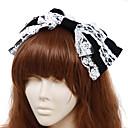 ジュエリー クラシック/伝統的なロリータ 帽子 プリンセス ホワイト / ブラック ロリータアクセサリー ヘッドピース 蝶結び / ゼブラプリント のために 男性 / 女性 コットン