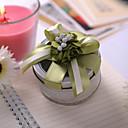 Okrugli korist kositra sa zelenim cvijećem i luk (set od 6)