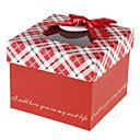 Red dárková krabička se stuhou Bowknot a štítky