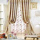 Dvije ploče Michelle luxury® žakard cvjetni promašaj svila tradicionalna ušteda energije zavjese