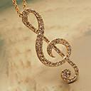 Ženska elegantna duga ogrlica stila glazbenog ključa sa cirkonima