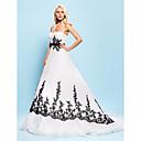 Lanting Bride® Krinolina Sitna / Veći brojevi Vjenčanica - Šik i moderno / Elegantno i luksuzno Vjenčanice u boji Srednji šlepSrcoliki
