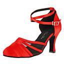 Može se prilagoditi - Ženske - Plesne cipele - Moderni plesovi - Satin - Prilagođeno Heel - crven