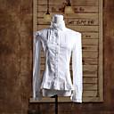 stojim ovratnika dugi rukav bijelu pamučnu bluzu klasični Lolita