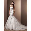 Lanting Bride® Rozevláté Drobná Svatební šaty - Klasické & nadčasové / Okouzlující & dramatické Retro Velmi dlouhá vlečka SrdceKrajka /