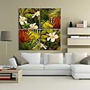 Protezala Canvas Art Botanički Cvjetni i Ostavlja Set od 4