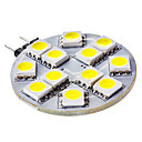 G4 2.5 W 12 SMD 5050 50 LM Natural White Bi-pin Lights DC 12 V