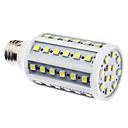 E27 7watů 60x5050smd 700lm 6000-6500k přirozené bílé světlo vedl kukuřičný žárovku (110 / 220V)