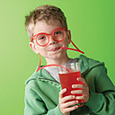 Zabava Naočale Modeliranje Djeca Slama