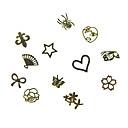 12-uzorak različitih oblika Metal Nail Art dekoracija