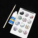 12 Boja Nail Art akril rhinestones dekoracija s ljepilo u sticku (Random boja)
