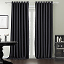 Dvije zavjese Prozor Liječenje Moderna , Jednobojni Bedroom Polyester Materijal Zavjese Zavjese Početna Dekoracija For Prozor