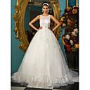 Lanting Bride® Krinolina Sitna / Veći brojevi Vjenčanica - Šik i moderno / Elegantno i luksuzno Vintage inspirirano Dugi šlep Duboki izrez