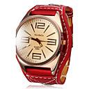 Dame ' Sat uz haljinu Modni sat Ručni satovi s mehanizmom za navijanje Kvarc Koža Grupa Crvena marka