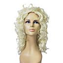 Capless Top kvalitních syntetických blond kudrnaté dlouhé paruka