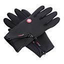 Ski rukavice Cijeli prst Sve Aktivnost / Sport Rukavice Ugrijati Anti-traktorskih Skijanje Pamuk Skijaške rukavice Proljeće Pasti Zima Crn