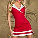 コスプレ衣装 サンタスーツ イベント/ホリデー ハロウィーンコスチューム レッド / ホワイト / ブラック / ブルー ドレス / Tバック ハロウィーン / カーニバル 女性用 ライクラ