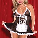 Cosplay Kostýmy Uniformy Festival/Svátek Halloweenské kostýmy Černá Patchwork Šaty / Vlasové ozdoby / T-Back Polyester