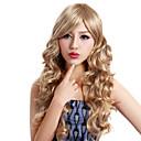 Nadolijevanja Long Kovrčava plavuša Kvalitetni Sintetička Wig