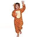 着ぐるみ パジャマ Tiger レオタード/着ぐるみ イベント/ホリデー 動物パジャマ Halloween オレンジ パッチワーク フランネル きぐるみ のために 子供用 ハロウィーン