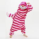 Kigurumi Pyžama New Cosplay® / Kočka / Chesire Cat Leotard/Kostýmový overal Festival/Svátek Animal Sleepwear Halloween Růžová Patchwork