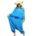 Kigurumi Pyžama Monster Leotard/Kostýmový overal Festival/Svátek Animal Sleepwear Halloween Zelená / Modrá Jednobarevné polar fleece