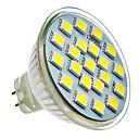 MR16 3W 21x5050SMD 165-180LM 6000クールホワイトライトLEDスポット電球(12-24V)