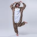 Kigurumi Pyžama Medvěd Leotard/Kostýmový overal Festival/Svátek Animal Sleepwear Halloween Káva / Béžová Patchwork Coral Fleece Kigurumi