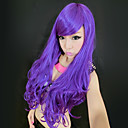 Magic Purple Side Bang Sintetička Long Curly Wig