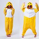 Kigurumi Pyžama Kachna Leotard/Kostýmový overal Festival/Svátek Animal Sleepwear Halloween Bílá / Žlutá Patchwork polar fleece Kigurumi