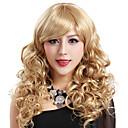 Nadolijevanja Long Kvalitetni sintetičke Glazbeni Kovrče Wig Side Bang