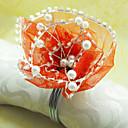 Čipka Cvjetni Vjenčanje salvete Ring set od 12, Dia 4,5 cm